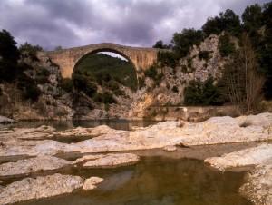 Medieval bridge in la Garrotxa   Walking holidays in Spain
