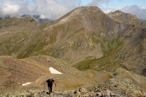 Climbing Estanyo peak