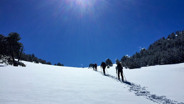 guided snowshoeing holidays pyrenees